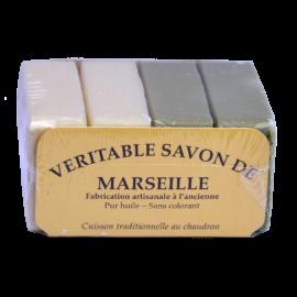 véritable savon de Marseille 100g 2 vert + 2 blanc
