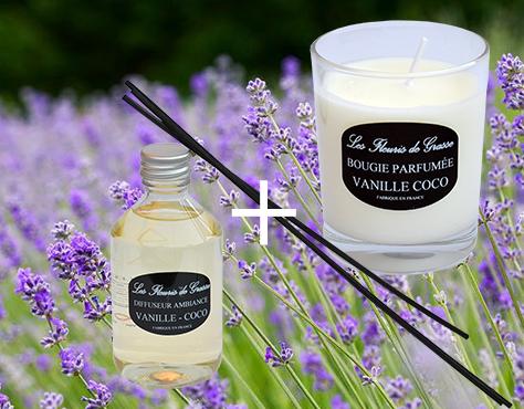 promo lot bougie-parfum vanille coco