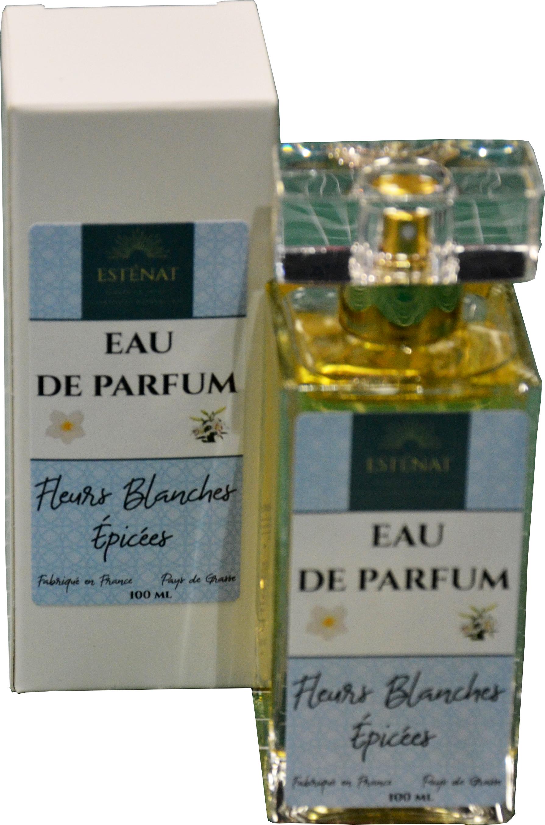 Eau de parfum fleurs blanches épicées