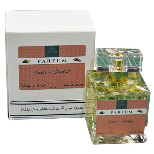 Esténat Parfums – Parfum pour Femme 100 ml Cassis – Chocolat. Parfums de Grasse