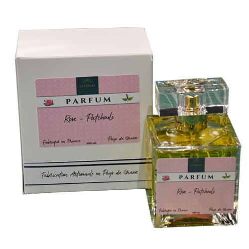 Esténat Parfums – Parfum pour Femme 100 ml Rose – Patchouli. Parfums de Grasse