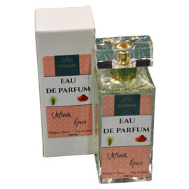 Esténat Parfums -Eau de Parfum pour Homme 100 ml Vétiver épicé. Parfums de Grasse