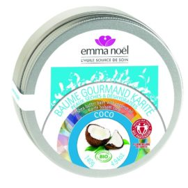 Emma noël Baume Gourmand Karité Coco Cosmébio Equitable 140 g