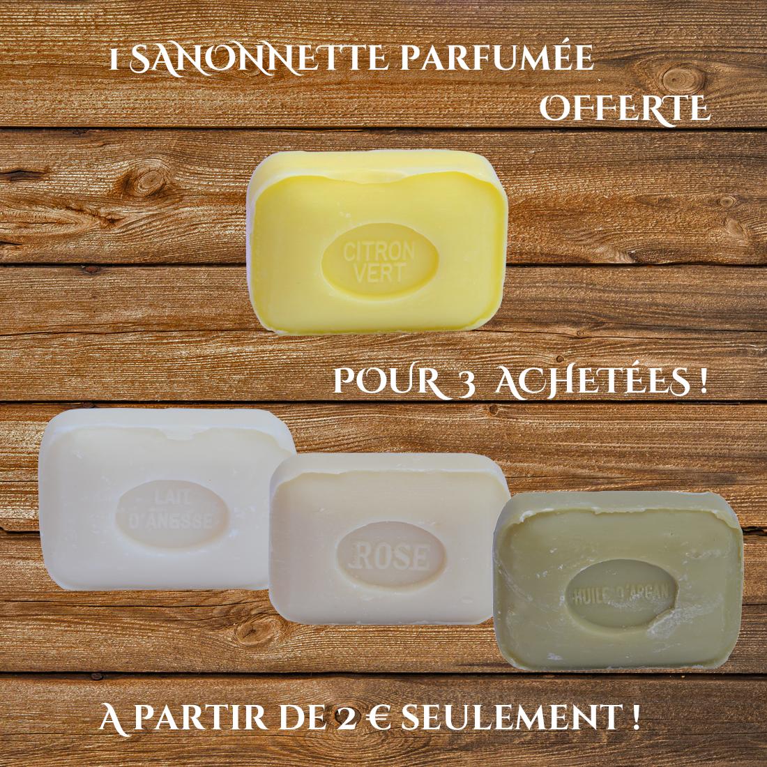 1 savonnette offerte pour 3