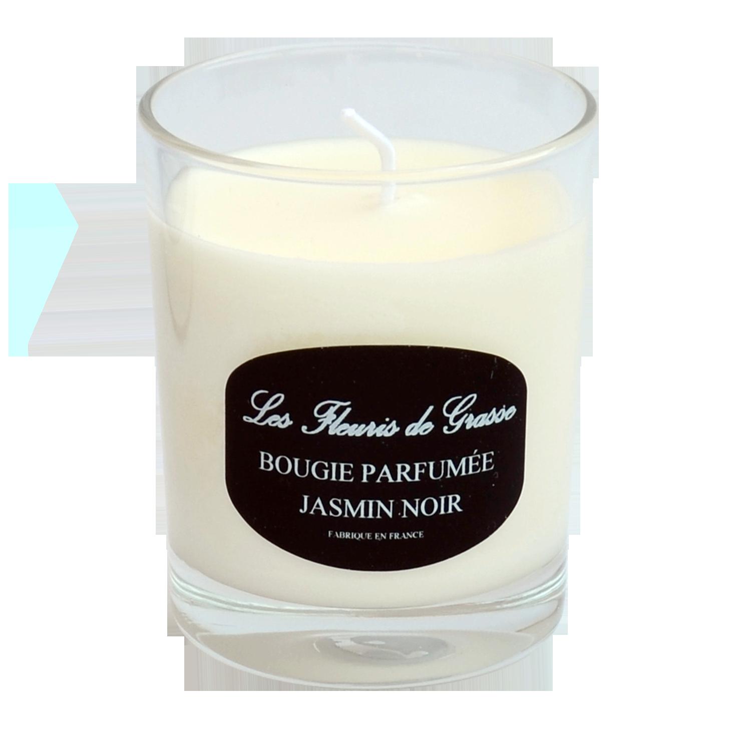 Bougie parfumée 130gr Senteur JASMIN NOIR