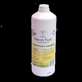 Savon Noir Liquide ménager naturel et bio à base d'huile de lin et d'olive