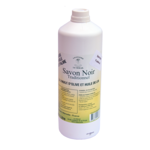 Savon Noir Liquide ménager 1L naturel et bio à base d'huile de lin et d'olive