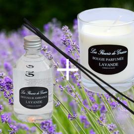 promo lot bougie-parfum LAVANDE