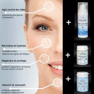 3 Soins anti-âge Esténat : puissants et efficaces pour retrouver éclat, tonicité et beauté de votre peau