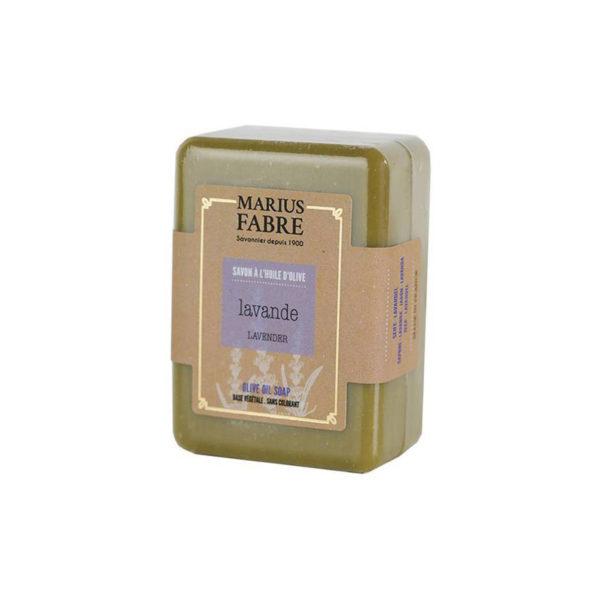Savon de Marseille MARIUS FABRE à la LAVANDE – Savonnette de 250g à l'huile d'olive