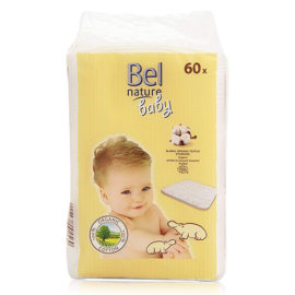 Boite de 60 maxi carres de coton bio pour bebe