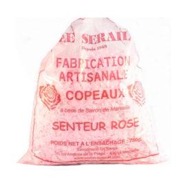 Copeaux de savon de Marseille parfumés Rose 750G