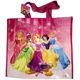 VICBAG Sac de Course réutilisable et Pliable Licence Disney Princesses. Grande Taille 45 X 40 X 22 cm. Sac Doux, Absorbant, imperméable et Lavable. pour Les Enfants, Les Grands, Filles et garçons