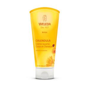 Weleda Bébé Crème Lavante Calendula Corps et Cheveux Tube 200 ml