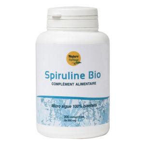 Spiruline contrôlée Ecocert 300 comprimés de 500mg - Nature et partage