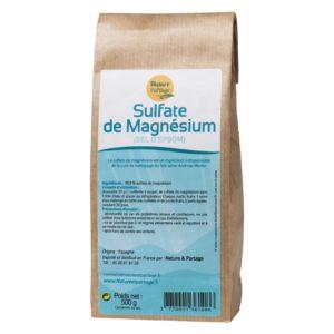Sulfate de Magnesium / Sels d'Epsom 500g - Nature et partage