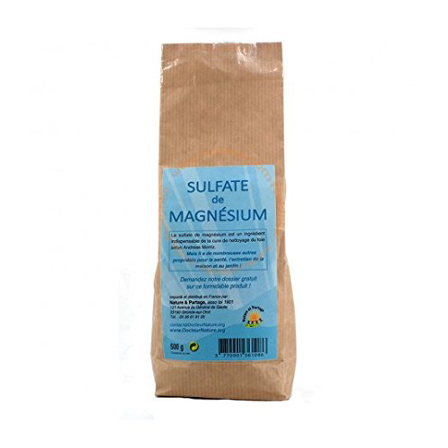 Sulfate de Magnesium Sels d'Epsom 500g