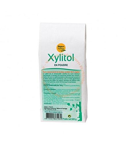Xylitol poudre 500g - sucre extrait de l'écorce de bouleau