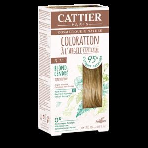 Cattier Paris - COLORATION TON SUR TON – BLOND CENDRE 7.1
