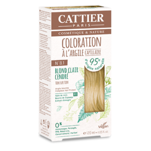 Cattier Paris - COLORATION TON SUR TON – BLOND CLAIR CENDRE 8.1