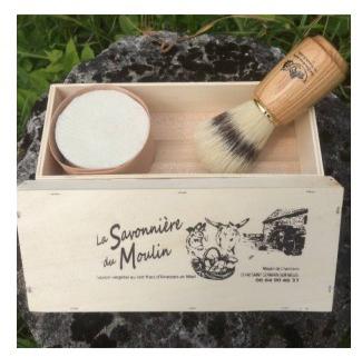 COFFRET LUXE BAROUD (SAVON BARBE +BLAIREAU) - La Savonnière du Moulin