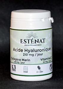 ACIDE HYALURONIQUE PUR à FORT DOSAGE 210 mg ESTENAT - 60 gellules