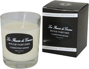 Bougies Parfumées Clémentine Monoi 130g - La Bastide des Arômes