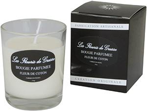 Bougies Parfumées Fleur de Coton 130g - La Bastide des Arômes