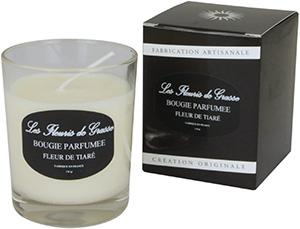 Bougies Parfumées Fleur de Tiaré - Monoi 130g - La Bastide des Arômes