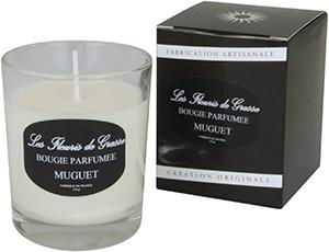 Bougies Parfumées Muguet 130g - La Bastide des Arômes